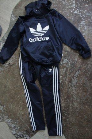 Adidas Anzug Größe 34 Damen NP 150 € blau Hoody Hose
