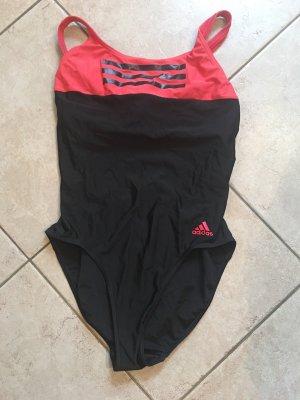 Adidas Maillot de bain noir-rouge clair