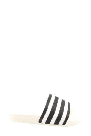 Adidas Klapki basenowe czarny-biały Wzór w paski W stylu casual