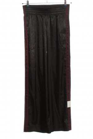 Adidas Baggy Pants schwarz-braun Streifenmuster Casual-Look
