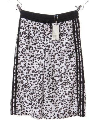 Adidas Baggy Pants schwarz-weiß Allover-Druck Casual-Look