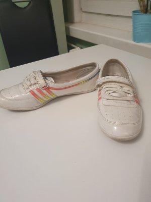 Adidas Ballerina di pelle verniciata bianco