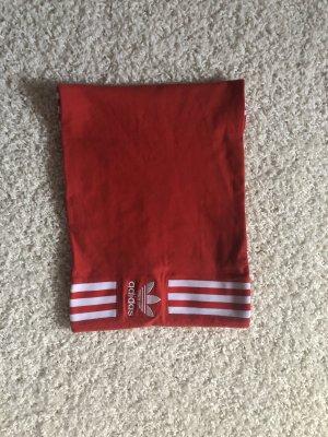 Adidas Top z dekoltem typu bandeau czerwony
