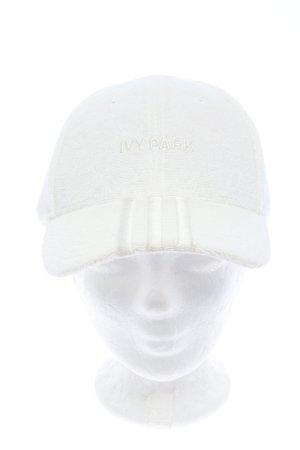 Adidas Baseballówka biały Wyhaftowany logo Prosty styl