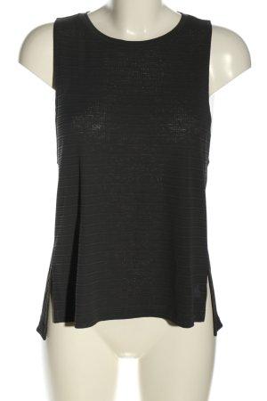 Adidas Basic Top schwarz Streifenmuster Casual-Look