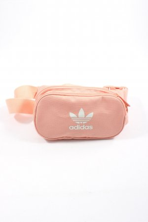 Adidas Bumbag pink-white themed print casual look