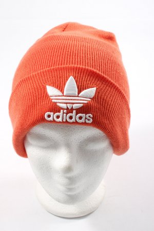 Adidas Beanie light orange-white casual look