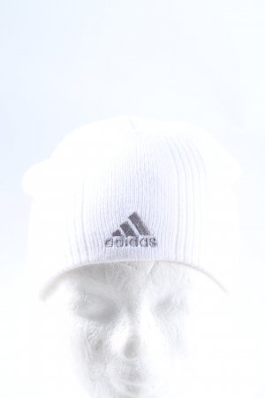 Adidas Beanie white embroidered lettering casual look