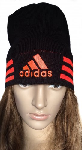 Adidas Beanie black-neon orange polyacrylic
