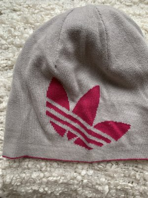 Adidas Beanie light grey-magenta