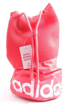 Adidas Beuteltasche pink Schriftzug gedruckt sportlicher Stil
