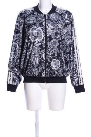 Adidas Blouson schwarz-weiß Allover-Druck Casual-Look