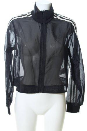 Adidas Blusón negro estampado a rayas estilo extravagante