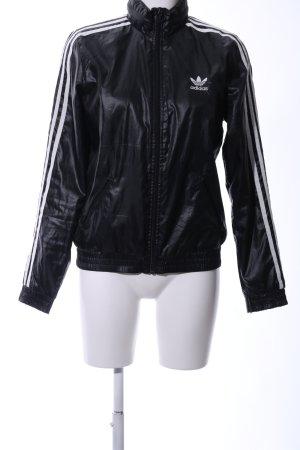 Adidas Blouson schwarz Glanz-Optik