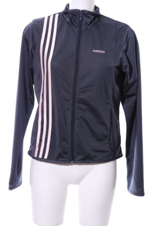 Adidas Blouson blau-pink Schriftzug gestickt sportlicher Stil