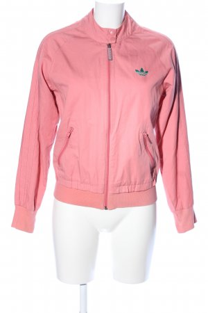 Adidas Blouson pink Schriftzug gestickt Casual-Look