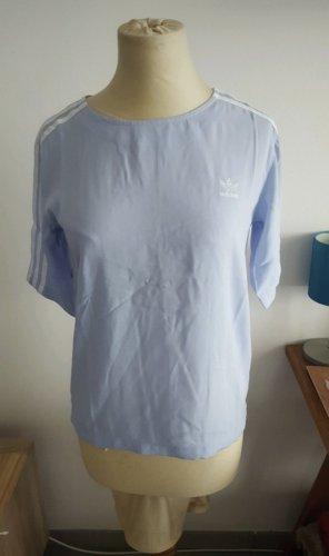 Adidas Originals Blusa Camisa azul celeste-blanco
