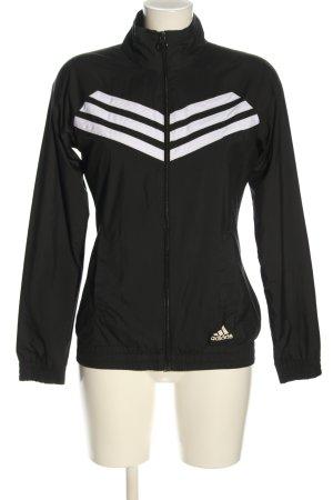 Adidas Blusenjacke schwarz-weiß Streifenmuster Casual-Look