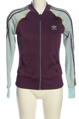 Adidas Bomberjacke lila-türkis Casual-Look