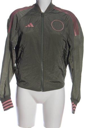 Adidas Bomberjacke khaki-pink Animalmuster Casual-Look
