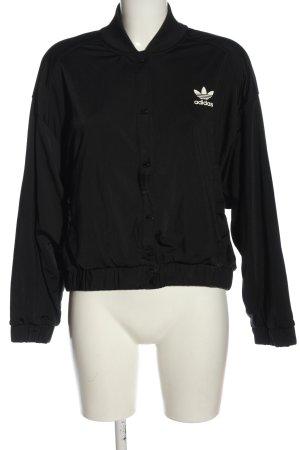 Adidas Bomberka czarny-biały Wydrukowane logo W stylu casual