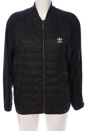 Adidas Blouson aviateur noir motif de courtepointe style décontracté