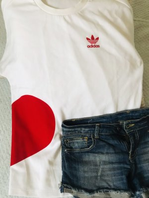 Adidas Lange top wit-rood