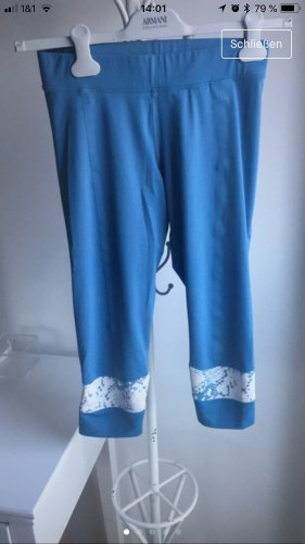 Adidas by Stella McCartney Sportbroek wit-korenblauw