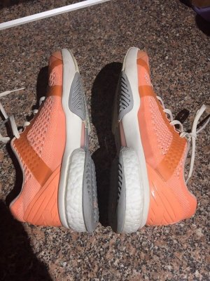 Adidas by Stella McCartney Sneakers met veters oranje-neonoranje