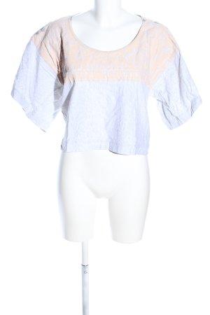 Adidas by Stella McCartney Cropped shirt lichtgrijs-nude grafisch patroon