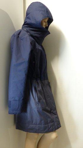 Adidas by Stella McCartney Manteau d'hiver bleu foncé-gris ardoise nylon