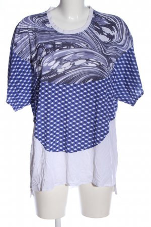 Adidas by Stella McCartney Oversized Shirt blue-white allover print casual look