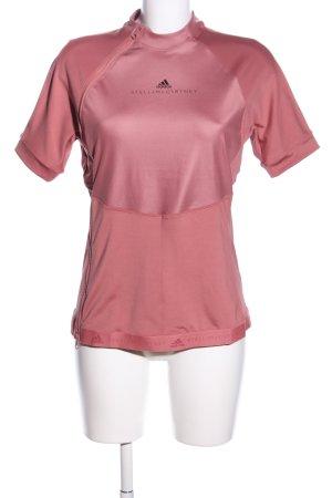 Adidas by Stella McCartney Maglietta sport rosa caratteri stampati