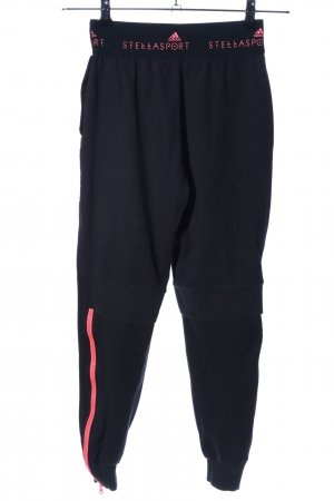 Adidas by Stella McCartney Joggingbroek zwart-roze gedrukte letters