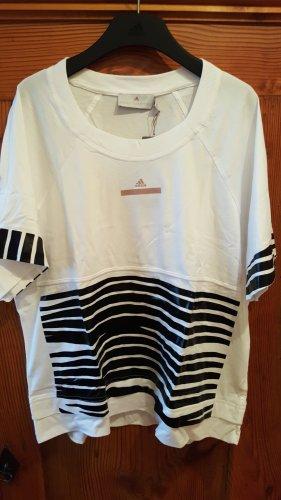 Adidas by Stella McCartney T-shirt wit-zwart
