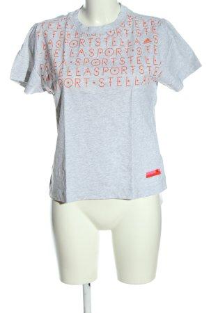 Adidas by Stella McCartney T-shirt lichtgrijs-licht Oranje gestippeld