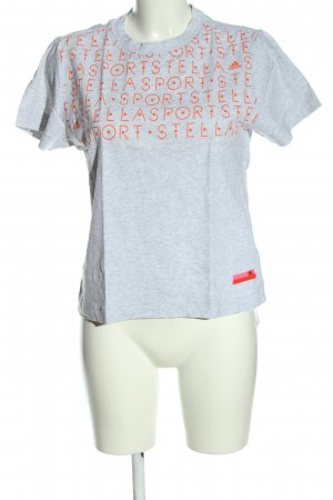 Adidas by Stella McCartney T-Shirt hellgrau-hellorange meliert Casual-Look