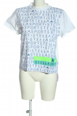 Adidas by Stella McCartney T-shirt wit-blauw gedrukte letters casual uitstraling