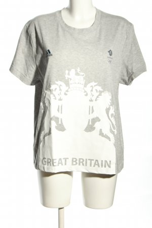Adidas by Stella McCartney T-Shirt hellgrau-weiß meliert Casual-Look