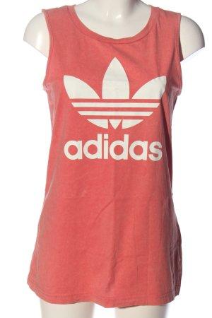 Adidas Camisole pink-weiß Motivdruck Casual-Look