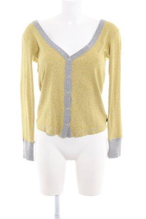 Adidas Cardigan grau-gelb Streifenmuster Casual-Look