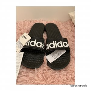 Adidas Strandsandalen zwart-wit