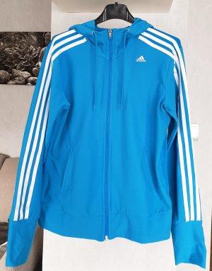 Adidas climacool Trainingsjacke Laufjacke mit Kapuze Hoodie Türkis /blau S 34/36