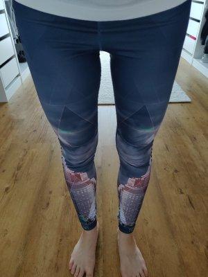Adidas Leggings gris oscuro-rosa