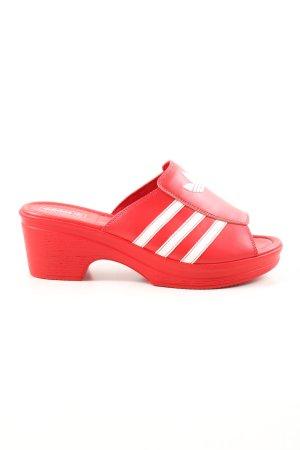 "Adidas Socque ""Trefoil Mule"" rouge"