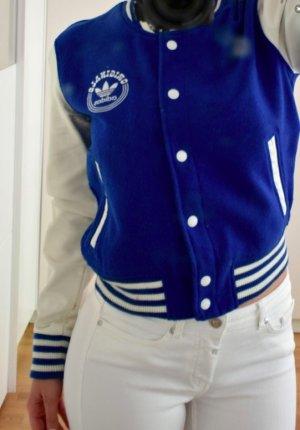 Adidas Originals College jack blauw-wit