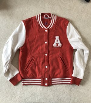 Adidas College Jacket white-red cotton