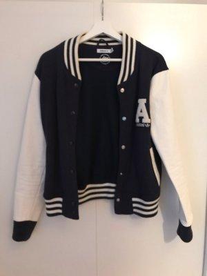 Adidas Chaqueta estilo universitario azul oscuro-blanco