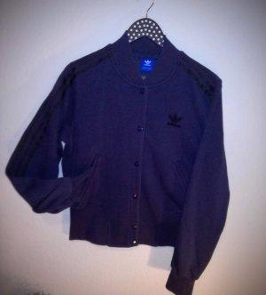 Adidas Chaqueta estilo universitario azul oscuro Algodón