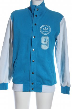 Adidas College jack blauw-wit casual uitstraling